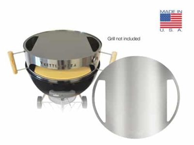 "KettlePizza Stainless Baking Steel for 22.5"" Kettle Grills - KPBS-22S"
