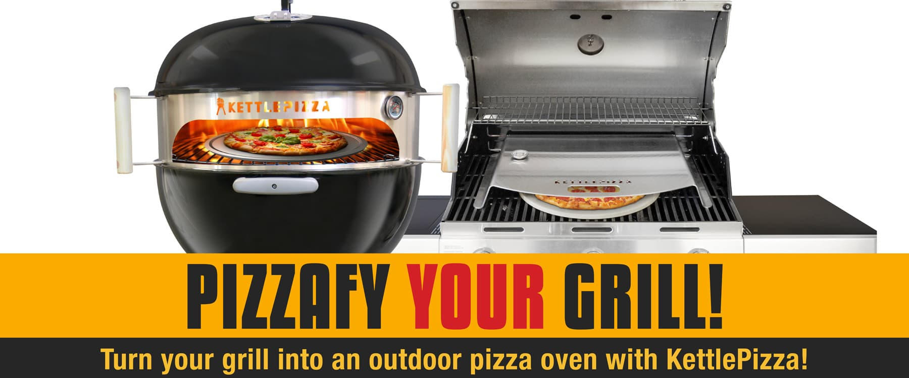 Weber Gas Grill Parts >> Gas Grill Pizza Oven Kits - Weber Grill Pizza Oven Kits - KettlePizza.com