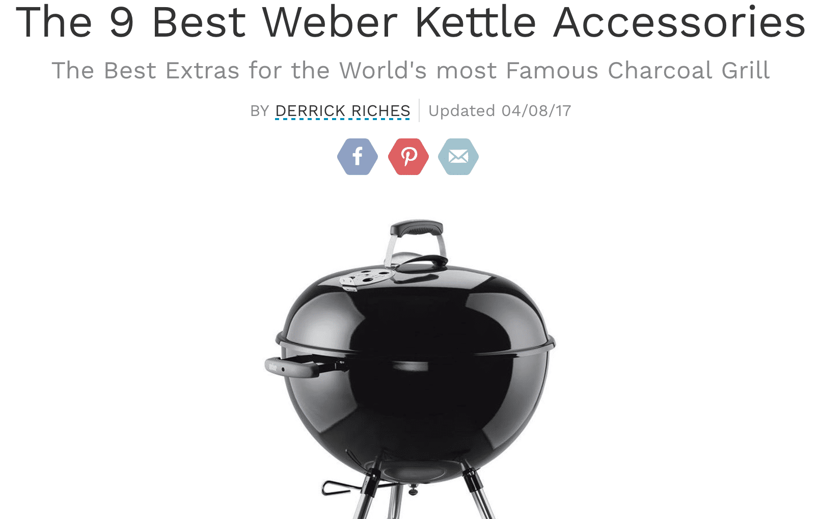 KettlePizza and Smokenator Make List of Top Nine Weber Kettle Accessories!